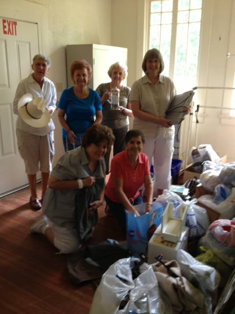 Our ladies group is getting ready for their Annual Rummage Sale.